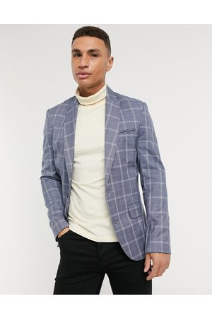 New Look Check suit jacket in