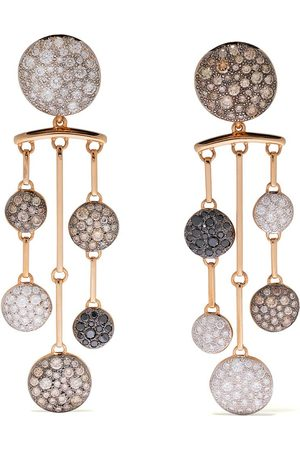 Pomellato 18kt rose Sabbia diamond chandelier earrings