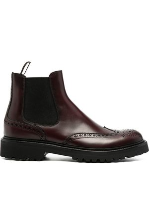 Scarosso Brogue-detail ankle boots