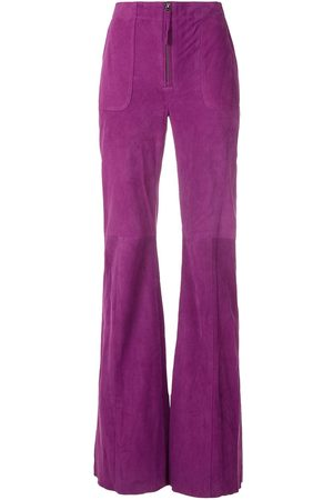 Eva Women Wide Leg Trousers - Chamois flared trousers