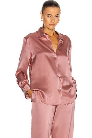 ASCENO The London PJ Top in Dusty Rose