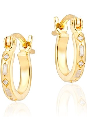 V by Laura Vann Iris 18kt Gold-plated Hoop Earrings