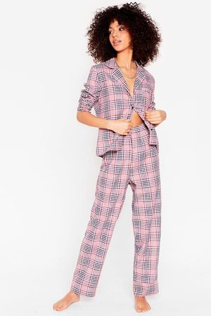 NASTY GAL Womens Takin' a Rain Check Shirt and trousers Pajama Set - - 6