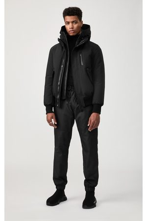 Mackage Dixon Down Bomber Jacket with Removable Hooded Bib in - Men - 36