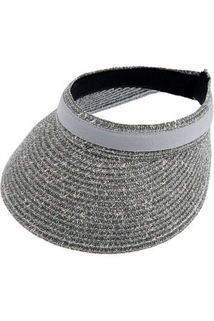 Dents Marl Paper Straw Visor With Ribbon Band In Size One