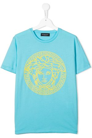 Versace Kids Boys Short Sleeve - Medusa-head print cotton T-shirt