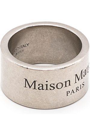 Maison Margiela Rings - Logo-engraved band ring