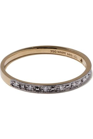 White Bird 18kt yellow Abicodia diamond ring