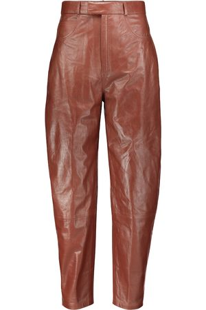 Zeynep Arcay High-rise leather pants