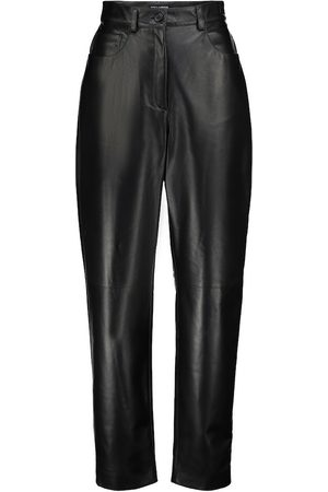 Dolce & Gabbana High-rise slim leather pants