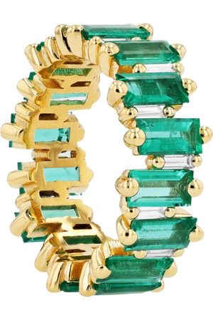 Suzanne Kalan Yellow , Emerald and Diamond One Of A Kind Ring (Size 7)