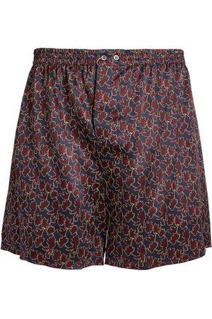 Zimmerli Silk Leaf Print Boxer Shorts