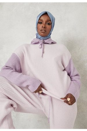 Missguided Tall Co Ord Colour Block Knitted Hoodie