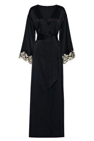 La Perla Silk Long Robe with Frastaglio