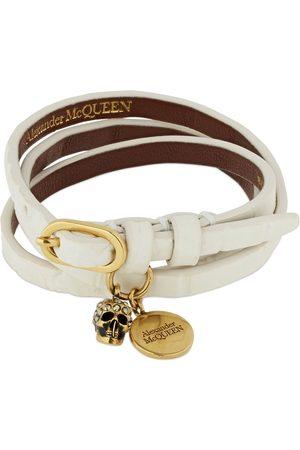 Alexander McQueen Triple Wrap Shiny Leather Bracelet