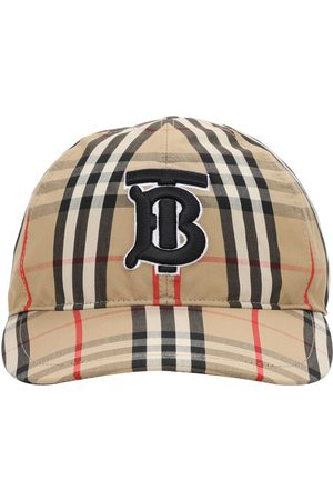 Burberry Tb Logo Check Cotton Canvas Baseball Hat