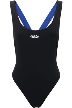 OFF-WHITE Logo Taped One Piece Swimsuit