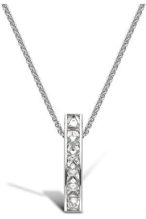 Pragnell Women Necklaces - 18kt white gold diamond single row RockChic pendant