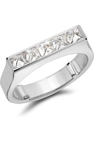 Pragnell Women Rings - 18kt white gold RockChic flat-topped diamond ring