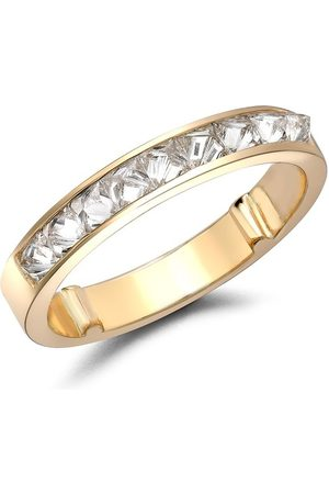 Pragnell Women Rings - 18kt yellow RockChic half-eternity diamond ring