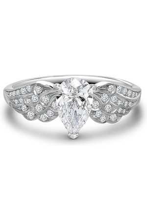 Pragnell Women Rings - Platinum pear shaped diamond tiara ring