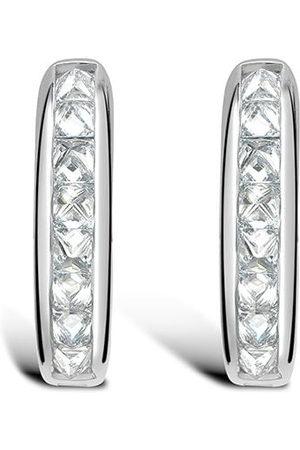 Pragnell Women Earrings - 18kt white gold RockChic diamond hoop earrings