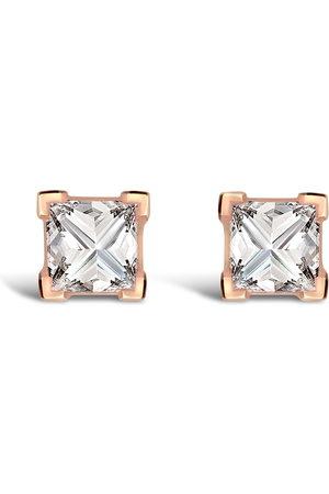 Pragnell 18kt rose gold RockChic diamond solitaire earrings