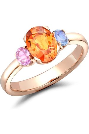 Pragnell 18kt rose gold Rainbow FancyThree-Stone sapphire ring