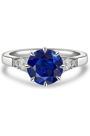 Pragnell Women Rings - Platinum Antrobus sapphire and diamond ring
