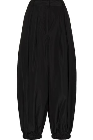 tibi Pleated-detail cropped trousers