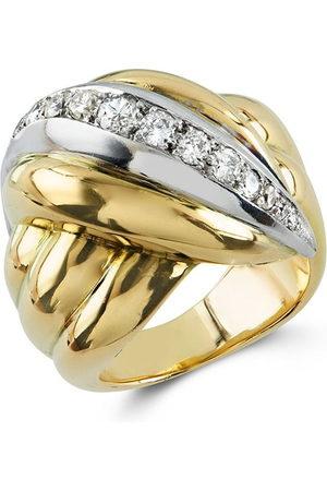 Van cleef 1941 - 1960 18kt yellow and white diamond ring