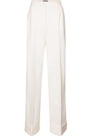 Dolce & Gabbana High-rise wool-blend gabardine pants
