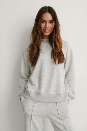 NA-KD High Neck Sweatshirt - Grey