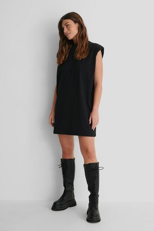 NA-KD Shoulder Pad Mini Dress - Black