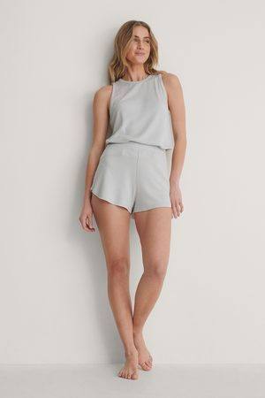 NA-KD Loungewear Loose Shorts - Grey
