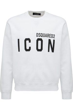 Dsquared2 Logo Print Cotton Jersey Sweatshirt