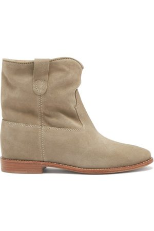 Isabel Marant Women Ankle Boots - Crisi Suede Ankle Boots - Womens