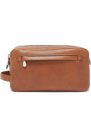 Brunello Cucinelli Two-zip Grained-leather Washbag - Mens