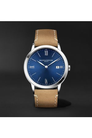 Baume & Mercier Classima 40mm Stainless Steel and Leather Watch, Ref. No. 10385