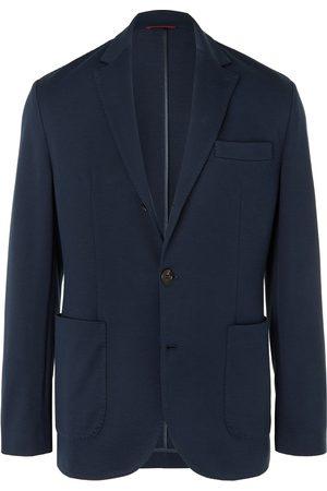 Brunello Cucinelli Unstructured Silk and Cotton-Blend Piqué Blazer