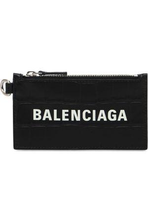 Balenciaga Men Purses & Wallets - Croc Embos Leather Wallet