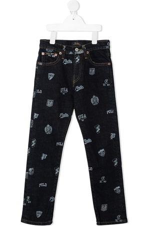 Ralph Lauren Graphic-print slim-fit trousers