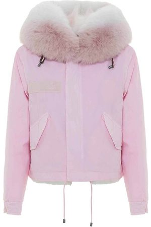 Mr & Mrs Italy Jazzy Cropped Parka For Woman With Fox Fur