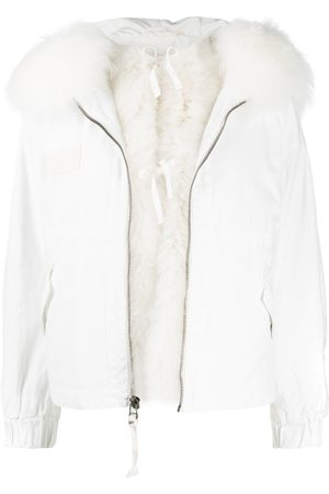 Mr & Mrs Italy Cropped Parka M51 For Woman With Cashmere