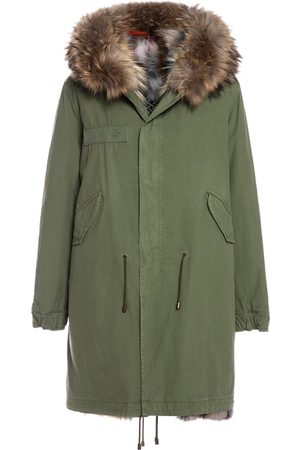 Mr & Mrs Italy Fw20 Icon Parka: Army Cotton Parka With Patch Fox Fur Lining