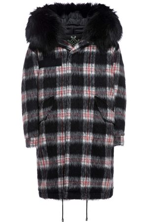 Mr & Mrs Italy Tartan London Parka M51 For Woman With Fur