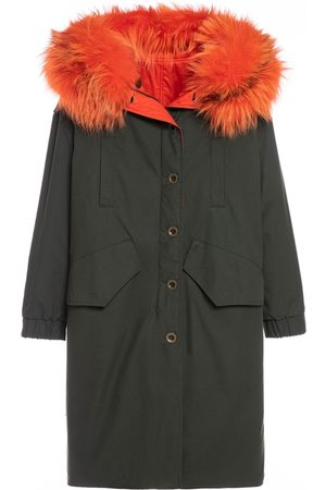 Mr & Mrs Italy Reversible Boxy Parka A-line With Fox Fur