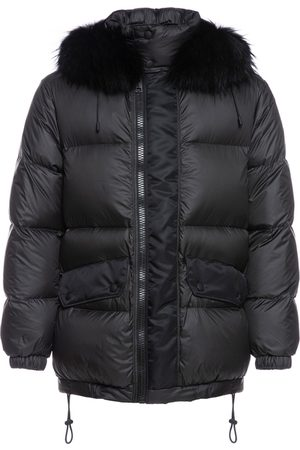 Mr & Mrs Italy Jackets - Overfitted Unisex Down Jacket With Fur