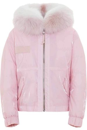 Mr & Mrs Italy Women Parkas - Cropped Parka M51 For Woman With Fox Fur