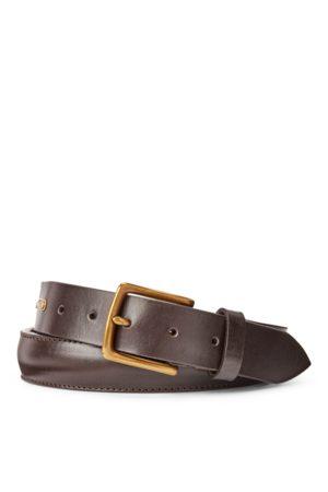 Polo Ralph Lauren Brass-Buckle Leather Belt